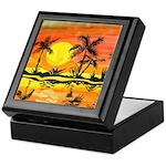 Tropical Beach Sunset Keepsake Box