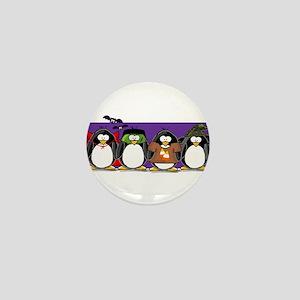 4 Halloween Penguins Mini Button (10 pack)