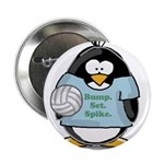 "volleyball bump set spike Pen 2.25"" Button (1"