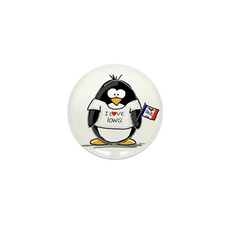 Iowa Penguin Mini Button (100 pack)