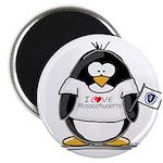 """Massachusetts Penguin 2.25"""" Magnet (10 pack)"""