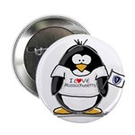 """Massachusetts Penguin 2.25"""" Button (10 pack)"""