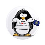 """New Hampshire Penguin 3.5"""" Button (100 pack)"""