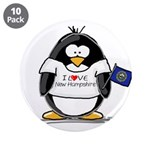 """New Hampshire Penguin 3.5"""" Button (10 pack)"""