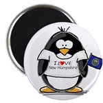 """New Hampshire Penguin 2.25"""" Magnet (10 pack)"""