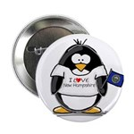 """New Hampshire Penguin 2.25"""" Button (100 pack)"""