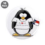 "North Carolina Penguin 3.5"" Button (10 pack)"