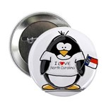 "North Carolina Penguin 2.25"" Button (10 pack)"