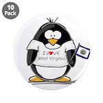 "West Virginia Penguin 3.5"" Button (10 pack)"