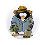 "Treasure Hunter Penguin 3.5"" Button (100 pack"