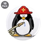 "Fireman penguin 3.5"" Button (10 pack)"