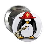 "Fireman penguin 2.25"" Button (100 pack)"