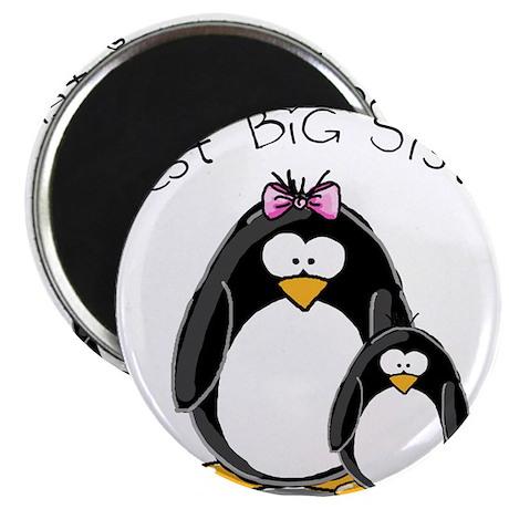 """Best Big Sister penguins 2.25"""" Magnet (10 pac"""
