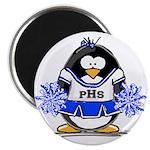 "Blue CheerLeader Penguin 2.25"" Magnet (100 pa"