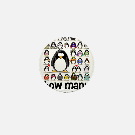 too many penguins Mini Button (10 pack)