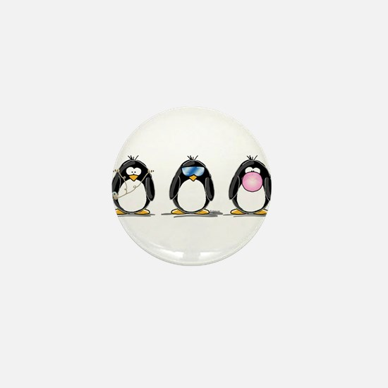 Hear, See, Speak No Evil Peng Mini Button (10 pack