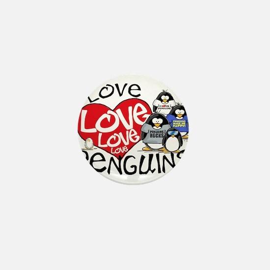 I Love Love More Penguins Mini Button (10 pack)