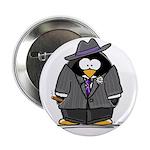 """Mobster penguin 2.25"""" Button (100 pack)"""