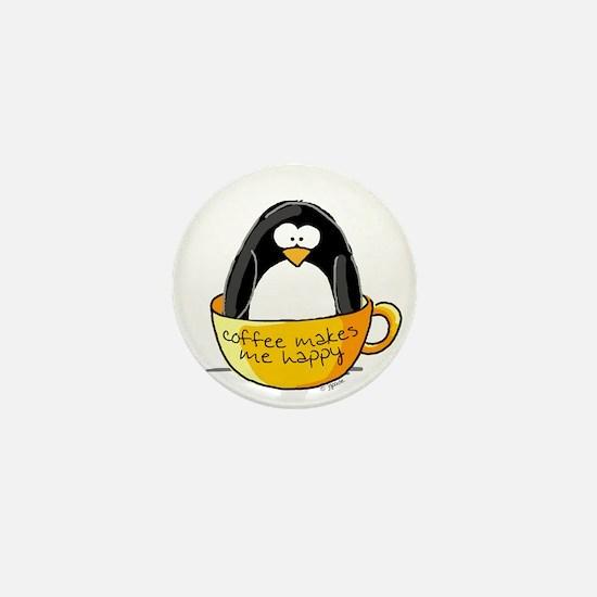 Coffee penguin Mini Button (10 pack)