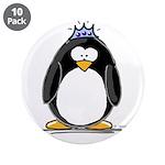 """Princess penguin 3.5"""" Button (10 pack)"""