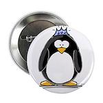 """Princess penguin 2.25"""" Button (100 pack)"""