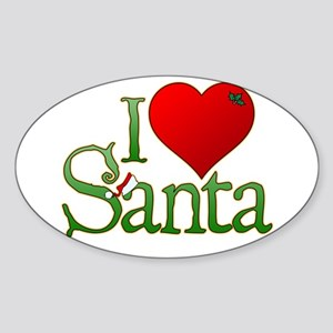 I Heart Santa Sticker (Oval)