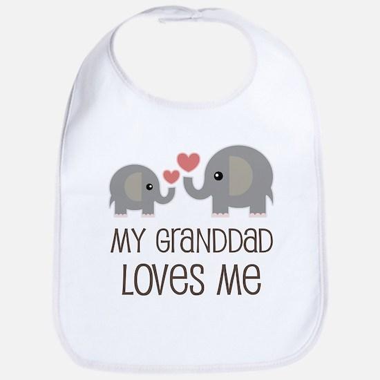 Granddad Loves Me Grandson Baby Bib