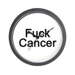 Fuck Cancer Wall Clock