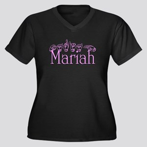 Mariah Women's Plus Size V-Neck Dark T-Shirt