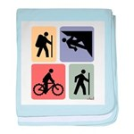 Multi Sport Guy baby blanket