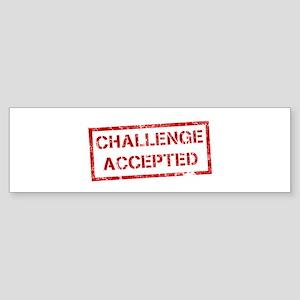 Challenge Accepted Sticker (Bumper)