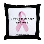 Fought Cancer & Won Throw Pillow