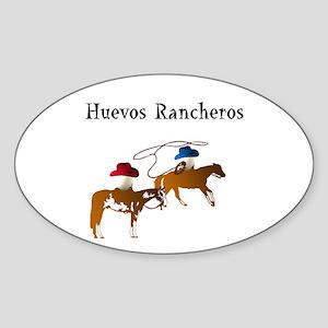 Huevos Rancheros Sticker (Oval)