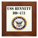 USS BENNETT Framed Tile
