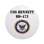 USS BENNETT Ornament (Round)