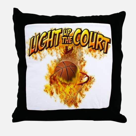 Light up the Court Throw Pillow