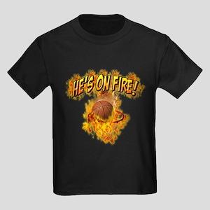 He's On Fire Kids Dark T-Shirt
