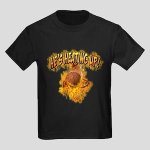 He's Heating Up Kids Dark T-Shirt