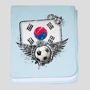 Soccer Fan South Korea baby blanket