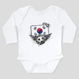 Soccer Fan South Korea Long Sleeve Infant Bodysuit