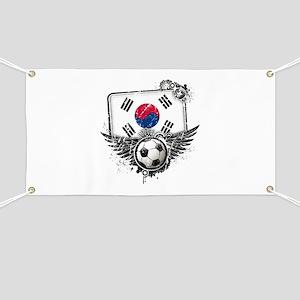 Soccer Fan South Korea Banner
