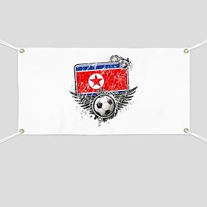 Soccer Fan North Korea Banner