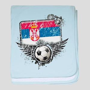 Soccer Fan Serbia baby blanket