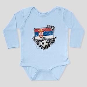 Soccer Fan Serbia Long Sleeve Infant Bodysuit