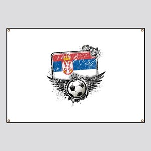 Soccer Fan Serbia Banner