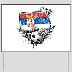Soccer Fan Serbia Yard Sign