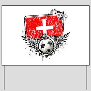 Soccer Fan Switzerland Yard Sign