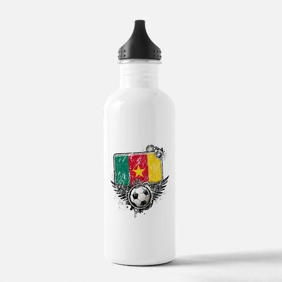 Soccer Fan Cameroon Water Bottle