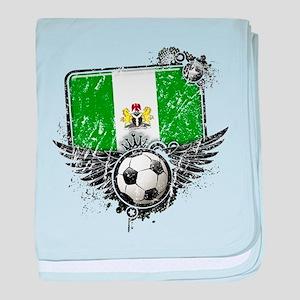Soccer Fan Nigeria baby blanket