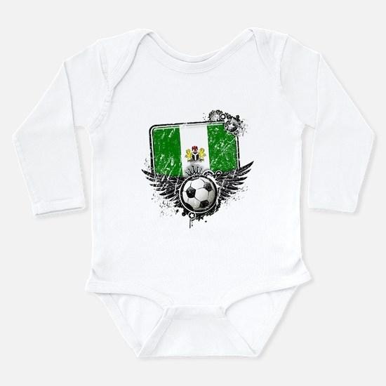 Soccer Fan Nigeria Long Sleeve Infant Bodysuit